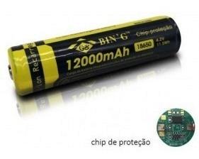 Bateria Para Lanterna - Icr 18650 - 3.7v 800mah *com Chip*