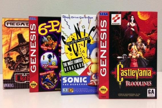 Mini Caixas Para Jogos De Mega Drive