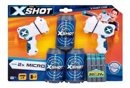 Pistola X-shot Double Micro Excel 24mts Juego Niños
