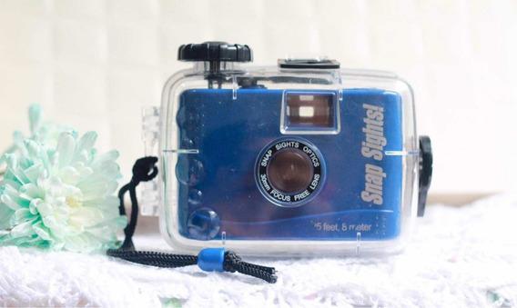 Câmera Analógica Aquática Free Focus Azul