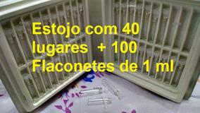 Estojo Demonstrador + 100 Flaconetes 1ml Vazios + Fita Olfat