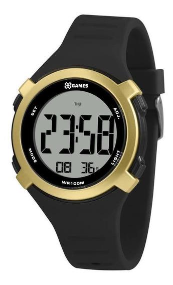 Relógio X-games Xmppd585 Masculino Digital Preto/dourado