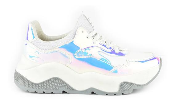 Tenis Urbanos Para Mujer Lob Footwear 627-9599 Blanco Nuevo Oi19