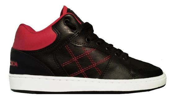 Zapatillas Kick Flip Born Negro Rojo