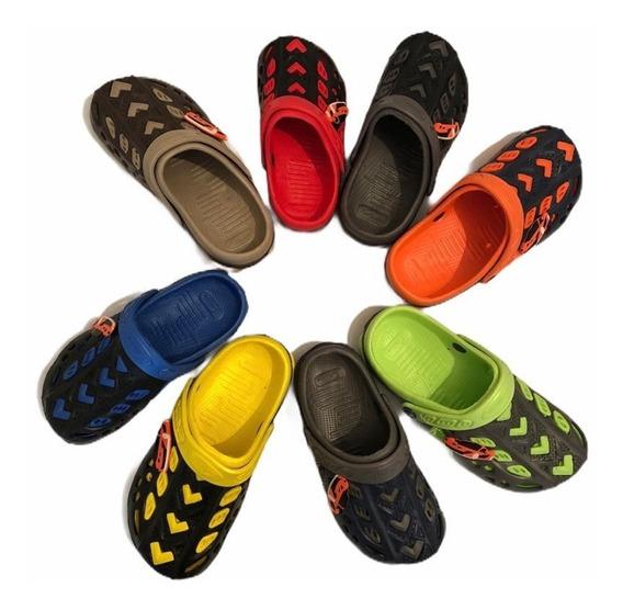 Sandalia De Niño Tipo Sueco Mayoreo Lote De 12 Piezas