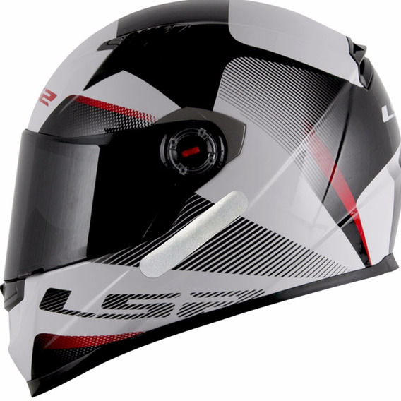 Capacete Ls2 Ff358 Tyrell White / Black