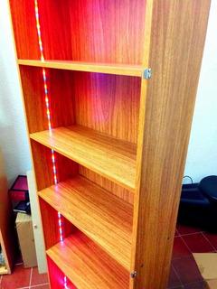 Biblioteca Con Tira De Led - Excelente Estado