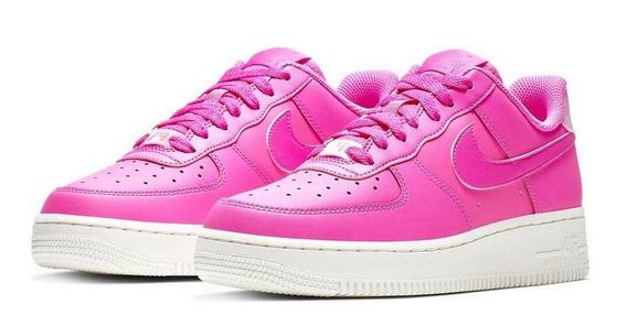 Zapatillas Mujer Nike Air Force 1 Ess Cuero Plataforma Rosa