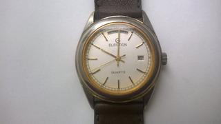 Reloj Election Vintage Quartz Único Década 70 Máquina Harley