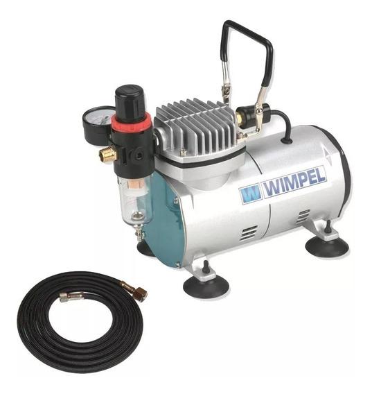 Mini Compressor Silencioso Bivolt Comp1 Wimpel P/aerografia