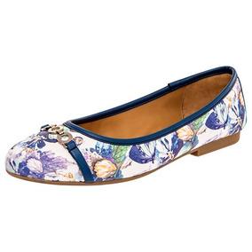Zapatos Ballerina Flats Dama Blanco Flexi Sint Udt 91357