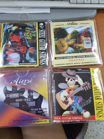 Juegos De Cuerda Para Guitarra Clasica, Acústica Y Electrica