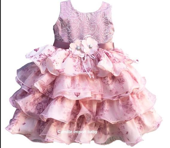 Vestido Realeza Rose Princesa Luxo Infantil E Tiara Promoção