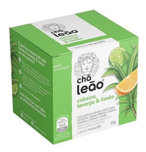 Chá Leão Premium -  Cidreira, Laranja E Limão - 10 Sachés