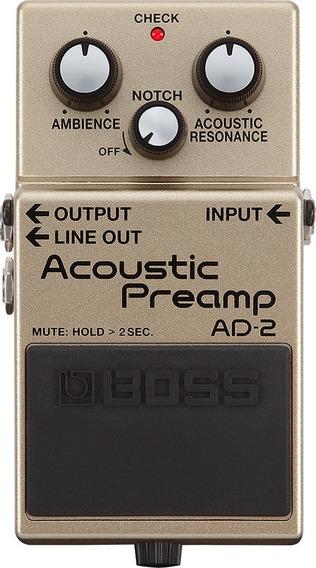 Pedal De Efeito Boss Ad-2 Acoustic Preamp P/ Violão Ad2 C/nf