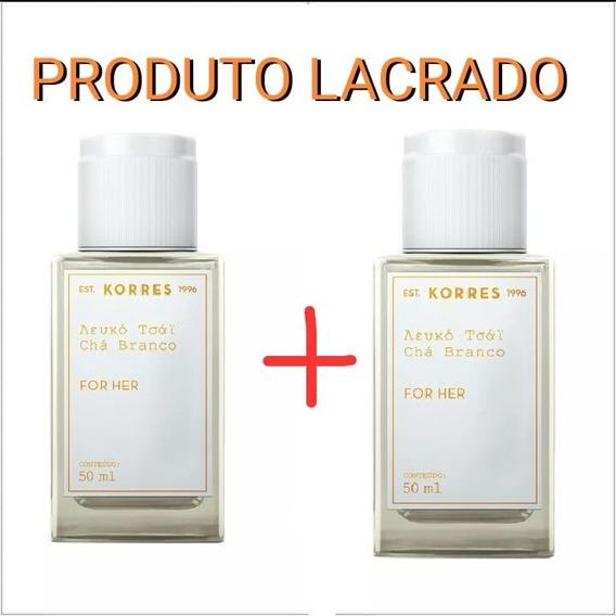 Chá Branco - Korres 50ml - Kit Com 2