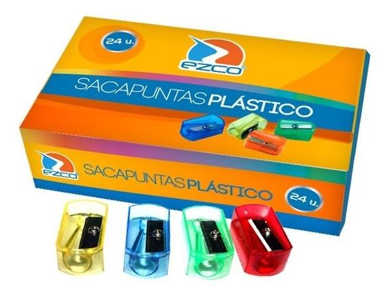 Sacapuntas Plastico Color Ezco 1 Orificio X3 Unidades