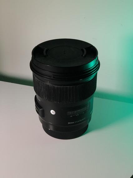 Lente Sigma 24mm 1.4 P/canon
