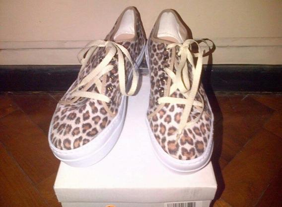 Liquidacion!! Zapatillas Animal Print Con Cordones