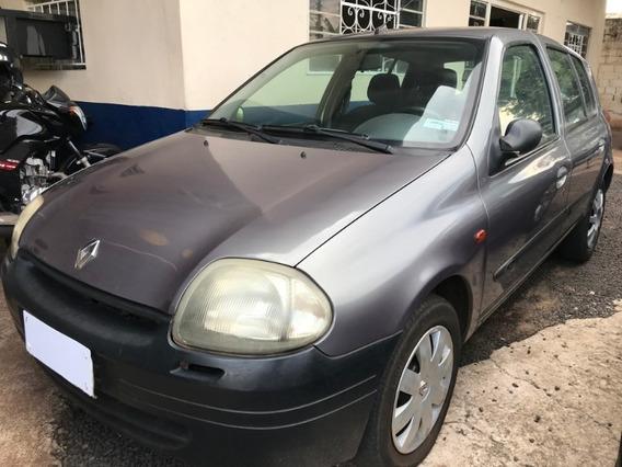 Renault Clio Rl 1.0 Cinza 2001