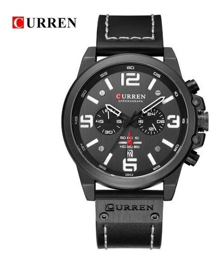 Relógio Masculino Curren 8314 Luxo. Preto.