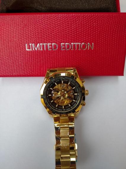 Relógio Forsining Skeleton Limited Edition Original