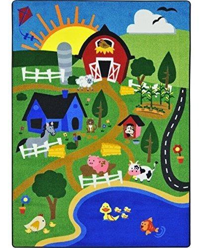 Joy Carpets 1887c Happy Farm Alfombras Para Niños, C, Multi