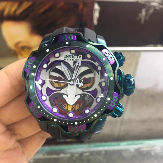 Relógio Invicta Venon Roxo Pulseira Silicone