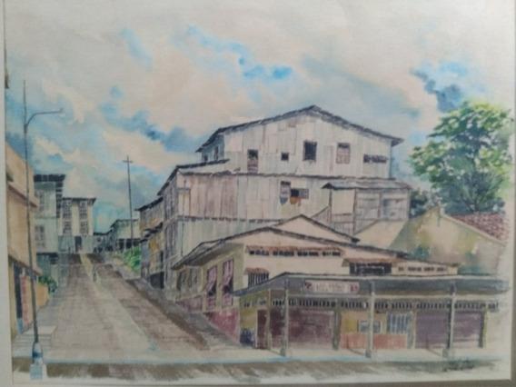 Acuarela Original De Carlos Veloz Von Recow