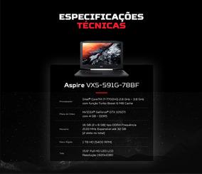 Notebook Gamer Acer Vx5 78bf I7 16g Hd1tb Gtx1050ti