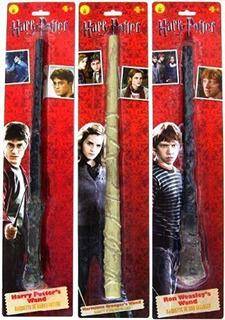 3 Items: Varitas Mágicas Harry Potter Ron Weasley Y Hermione