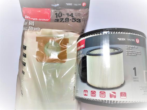 Paquete De Filtros Shop Vac 10 A 14 Galones