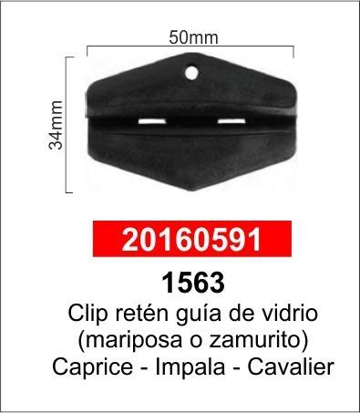 Clip Retén Guía Vidrio Mariposa Zamurito Caprice Impala Paq5