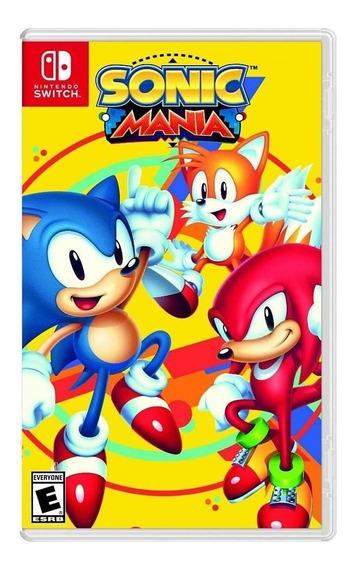 Sonic Mania - Mídia Física - Novo - Switch