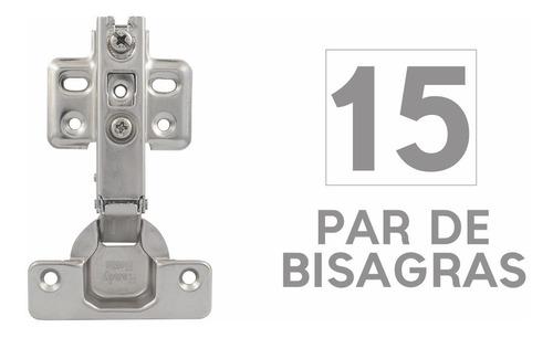 Bisagra Bidimensional 4 Perforaciones (15 Juegos) Handy Home