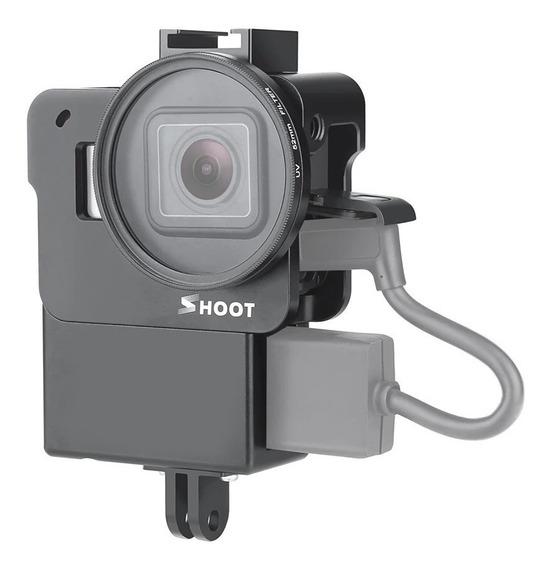 Case Aluminio Gopro Hero 5 6 7 Envio Imediato Suporte Adaptador Microfone