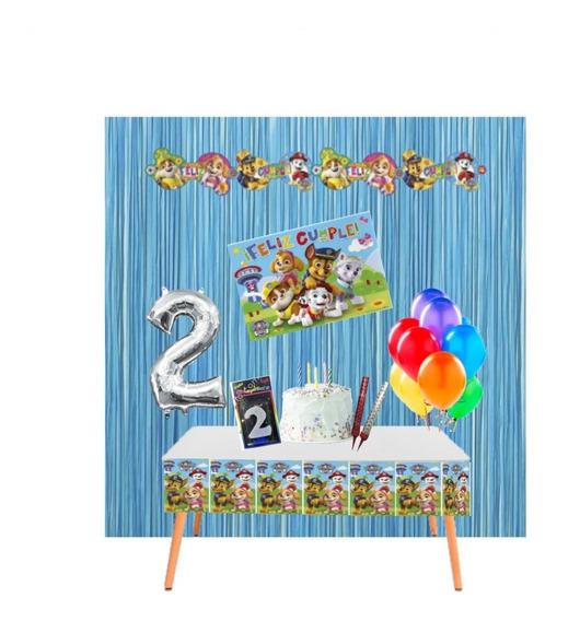 Kit Cumpleaños En Casa Decoración Cumple Virtual Paw Patrol