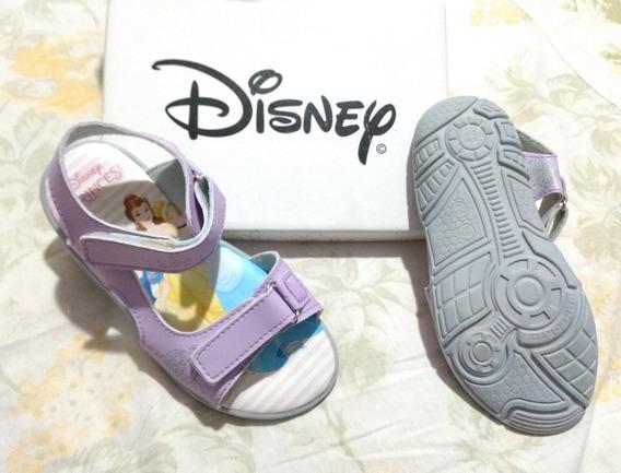 Sandália Infantil Princesas Disney Cor Lilás Tamanho 27