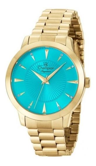 Relógio De Pulso Champion Elegance Feminino, Cn25092f