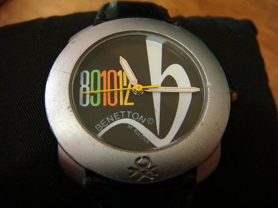 Reloj Benetton By Bulova Black Dial. Colección 90s