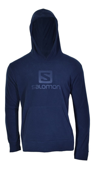 Campera Polar Lt Salomon Hombre Dress Blue