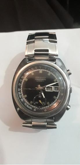 Relogio Antigo Seiko Cronografo Automático Funcionando Raro