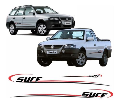 Adesivo Faixa Volkswagen Saveiro Parati Surf 2008 Em Diante