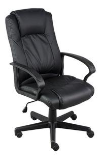 Cadeira Escritorio Airon Presidente Preta Relax Giratoria Fl