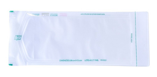 Imagem 1 de 6 de Saquinho Envelope Para Autoclave Auto Selante 9 X 23 600 Un