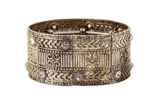 Bracelete Bohemian Dourado Strass - Unico