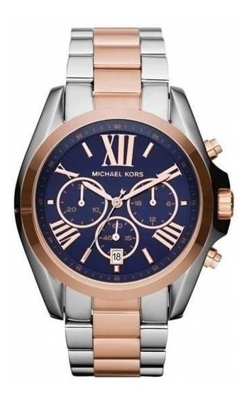 Relógio Michael Kors Mk5606 Misto Rosé E Prata
