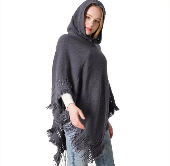 Capa Para Mujer Chal Poncho Sueter Abrigo