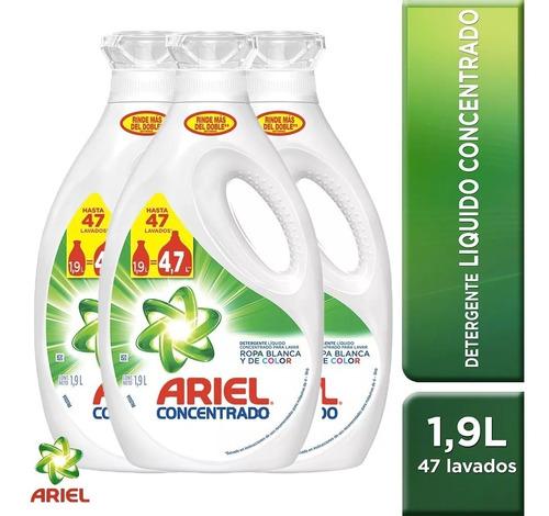 Pack 3 Botellas Detergente Ariel Power Liquid 1,9 Lt