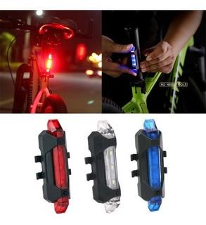 Luz Led Bicicleta Recargable Usb Accesorio Seguridad